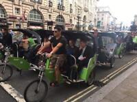 Rickshaw/pedicab riders wanted (job)