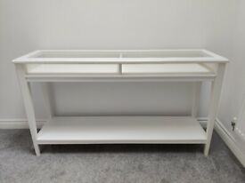 IKEA LIATORP console table white/glass 133x37cm MINT