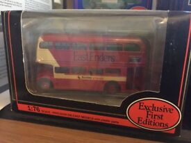 Gilbow and Corgi 1:76 double decker (and multiple) model buses in original box.