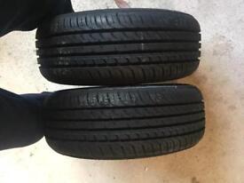 185 60R14 brand new tyres x2