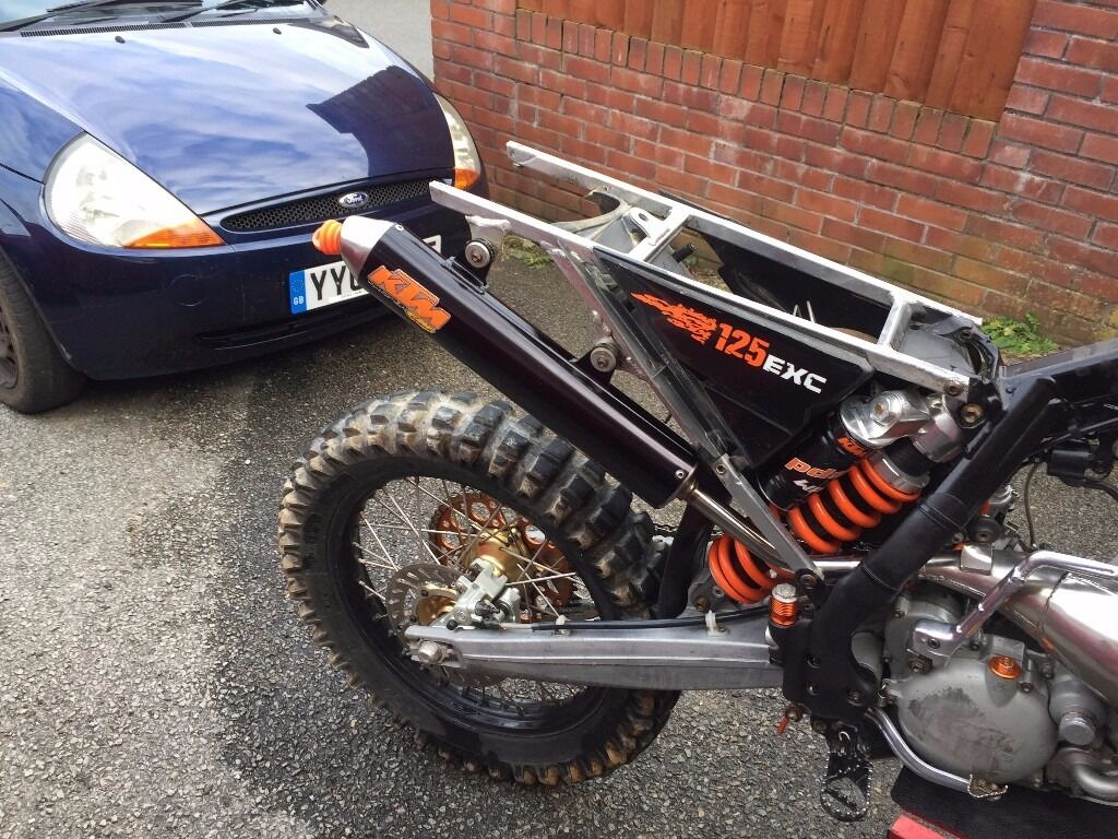 ktm exc 125 six days fmf silencer in plymouth devon gumtree. Black Bedroom Furniture Sets. Home Design Ideas