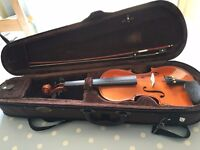 Stentor 1/2 size violin, inc case and bow