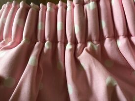 Cath Kidston Pink and White spot Curtains