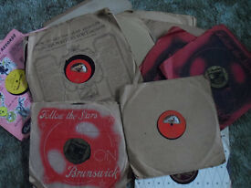 old 78s in original cases - see list for details - go down memory lane sold individually or as group