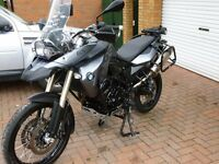 BMW F800gs, registered 2011(61) low miles, fitted with lots of extras, excellent condition