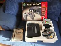 N64 Nintendo 64 boxed console and game