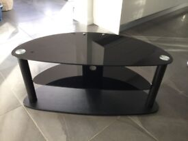 TV stand, black, glass, excellent condition