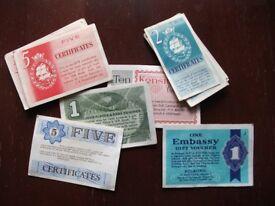 Old cigarette coupons & vouchers