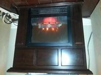 electric heater built in to mantel