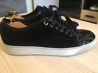 Luxurious Lanvin Toe Cap mens calf skin sneakers, black 43/uk9, RRP £315