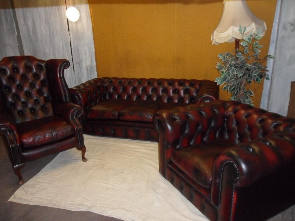chesterfield leather suite