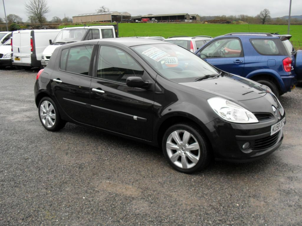 renault clio 1 2 tce dynamique s black 2008 in. Black Bedroom Furniture Sets. Home Design Ideas