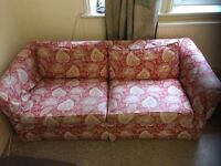 Red Colefax & Fowler sofa available - 2nd hand