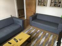 2 IKEA KIPLAN COUCHES / SOFA'S / SUITE. WITH COVERS