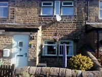Hainworth village circa 1740 all stone 2 bedroom cottage in rural location.