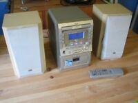 JVC Mini HiFi CA-UXM5R CD Stereo with Speakers Excellent Condition, Tape Deck & FM RDS