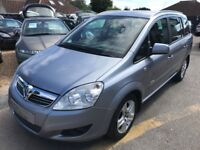 2010/60 VAUXHALL ZAFIRA 1.6i ENERGY 5DR SILVER,LOW MILEAGE 7 SEATER,GOOD CONDITION,DRIVES WELL