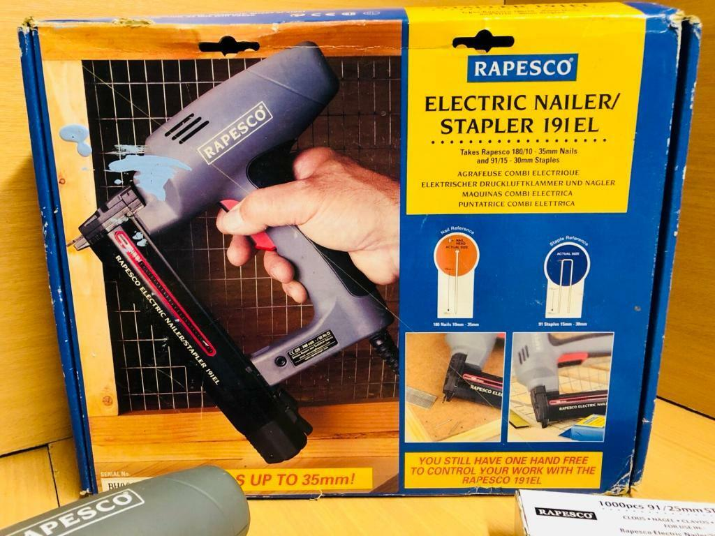 Electric Nailer/Stapler with many nails | in Halifax, West Yorkshire ...