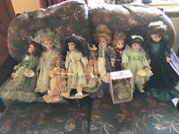10 China faced dolls