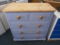 Blue Pine 3+2 Chest of Drawers