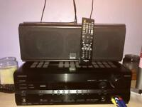 Onkyo stereo + 5 x speakers+ subwoofer+ remote