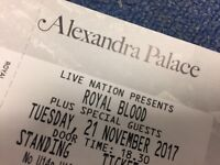 Royal Blood Tickets x2 - Alexandra Palace 21/11