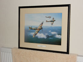 Framed print of Spitfires - excellent condition