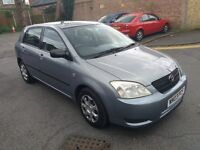 1.4toyota corolla 2003 year 104000 mile mot 11/04/18 history 1 lady owner hpi clear 3 month warranty