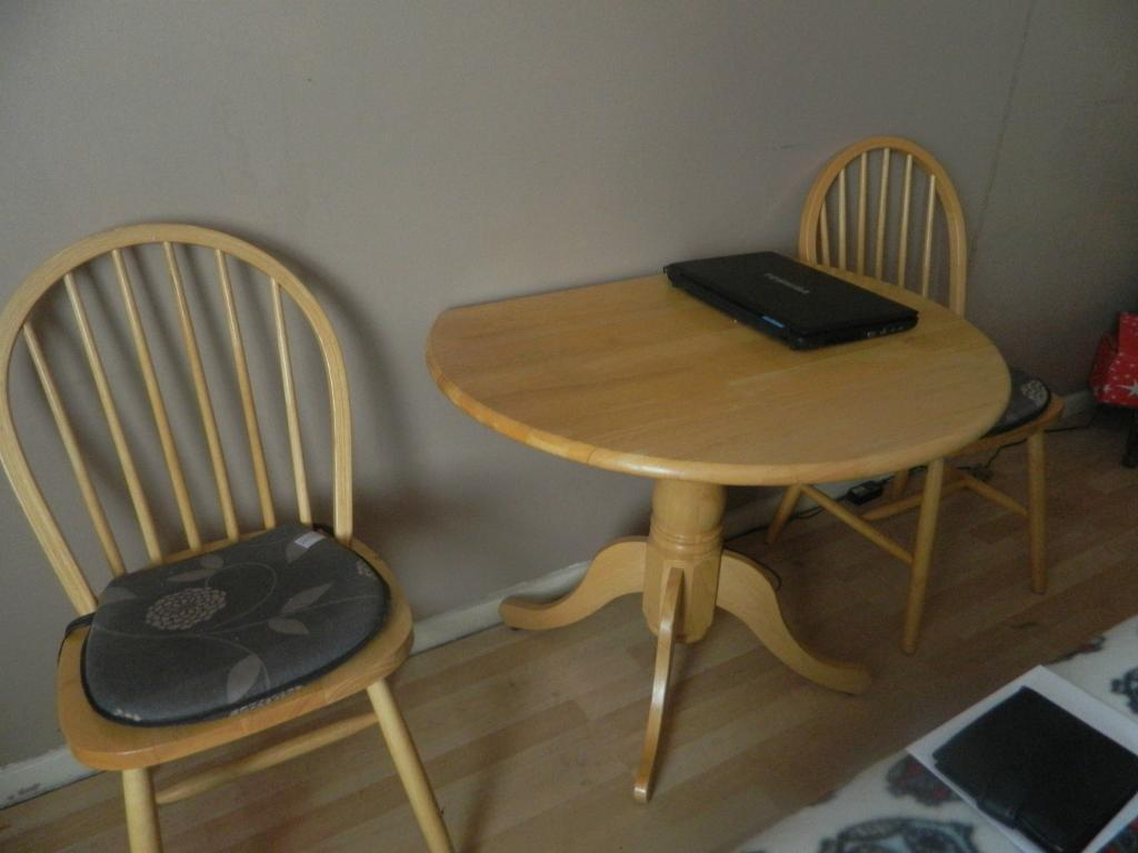 small light pine dining table and 2 chairs united kingdom gumtree