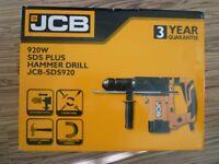 JCB PLUS HAMMER DRILL BRAND NEW BOXED 920W SDS 920DIY PROFESSIONAL POWER TOOL WORK KIT GENUINE L@@K