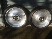 Harley Davidson wheels and spares for a V ROD