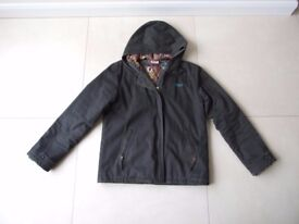 Girls Roxy Winter Jacket with Hood (Black) Age 12+ Superb Condition