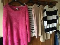Ladies size 10 bundle jumpers