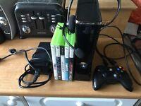 Xbox 360 slim 250gb console & games