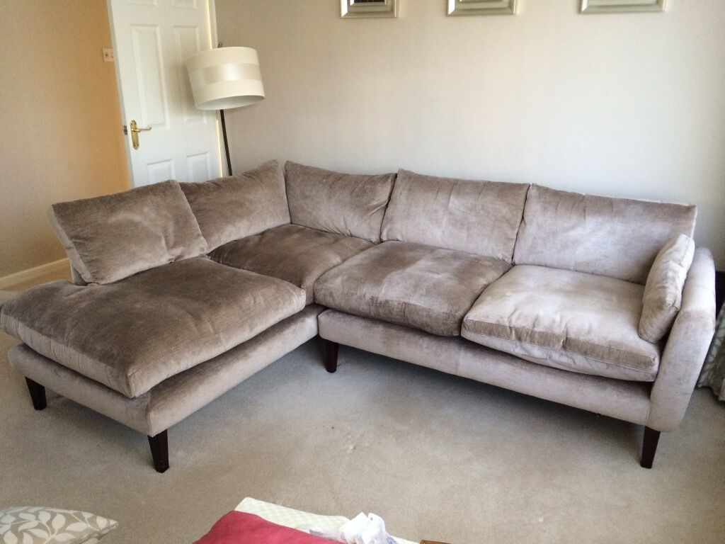 Laura Ashley 39 Newman 39 Left Hand Facing Corner Sofa In Neutral Fabric In Otley West Yorkshire