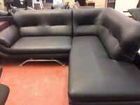 L shape sofa, corner, black - excellent condition! Only one left! Bargian!