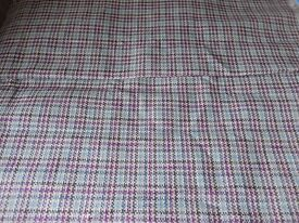1.8m Purple Blue pied de poule upholstery fabric Osborne & Little