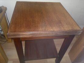 MAHOGANY SIDE/SMALL TABLE