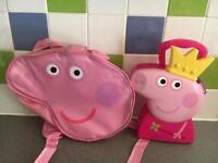 Peppa Pig rucksack and case