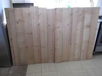 12 lengths very strong jointed pine shelving - 1200mm (approx) X 151mm X 30mm