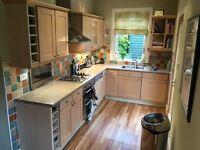 Solid maple wood door kitchen units worktop and appliances