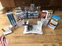 Wii console and games and Wii fit bundle