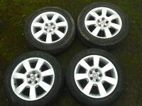 "GENUINE VW BEETLE ROUTE 16"" ALLOYS & 205/55/16 TYRES 1C0601025H 5X100 BORA MK4 GOLF"