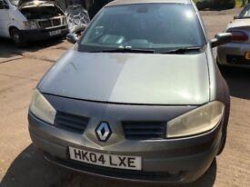 2004 Renault Megane Dynamique 16v 5dr 1.6 Petrol Grey BREAKING FOR SPARES
