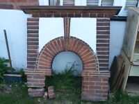 BEAUTIFUL ANTIQUE FIREPLACE ALL IN ONE CIRCA 1930s FROM OLD COTTAGE - BARGAIN!!!