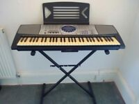 Panasonic SX-KC600 Electronic Keyboard with Stand, Cover and Learn-to-Play Book