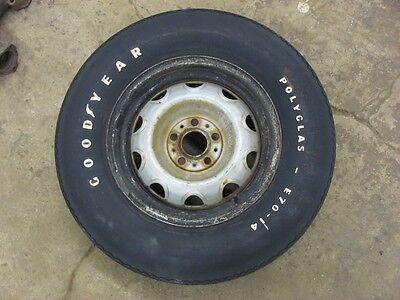 Original 1971 71 Duster Dodge Demon 5X4 Rallye Wheel Rim & E70-14 Tire Spare 340