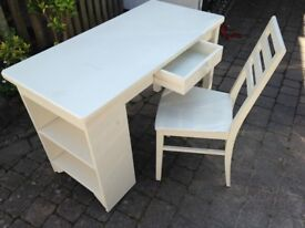 Quality beech desk and chair
