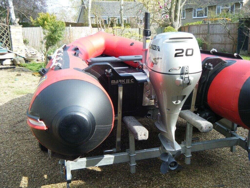 Zodiac futura 2C rib with 20hp  outboard and Road Trailer | in Oakham,  Rutland | Gumtree