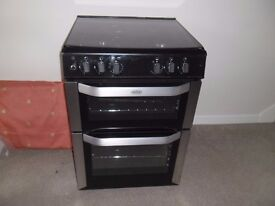 Belling Duel Fuel Cooker. Electric Fan Assisted Double Oven, Gas Hob Around 4 Years Old. VGC.